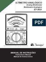 Manual Do Produto ET 3021