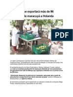 Lambayeque Exportará Más de 96 Toneladas de Maracuyá a Holanda