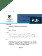 Politíca de Gestión Documental V1 17022017