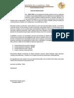 Carta de Presentacion MINJU