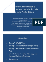 Thayer, The Trump Administration's Transactional Foreign Policy in the Indo-Pacific Region