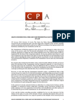 CPA PR on Presidential Elections - 20 Jan 2010