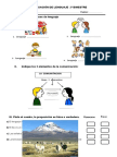 Evaluación de Ciencias Lenguaje 2º Bimestre - Profa Felipa Alvarado