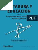 Educacion y Dictadura en Los Textos Escolares Argentinos