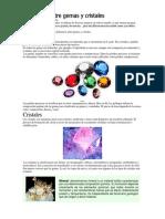 Diferencia Entre Gemas y Cristales