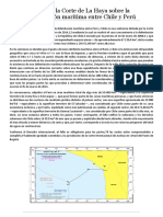 Fallo de La Corte de La Haya Sobre La Delimitación Marítima Entre Chile y Perú