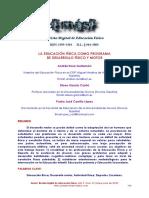 La EF Como Progrma de Desarrollo Fisico y Motor