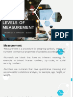 BusRes- Levels of Measurement