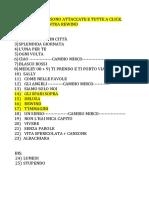 Scaletta ROBERTO 2018