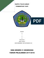 KTI Fermentasi Tape XII IPA 2 ^