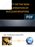 Treaty on the Non- Proliferation of Nuclear Weapons