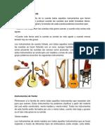 Instrumentos de Cuerda Mañana