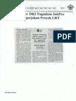 Pemprov DKI Tugaskan JakPro Mengerjakan Proyek LRT