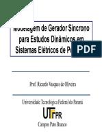 03 Modelo Dinamico Gerador Sincrono 2011 2 Parte I