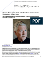 Director David Lynch Wants Schools to Teach Transcendental Meditation to Reduce Stress _ Innovation _ Smithsonian