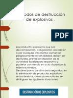 Métodos de Destrucción de Explosivos