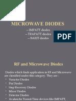 Microwave Diodes-IMPATT,TRAPATT,BARITT Diodes