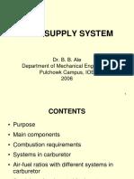 Carburetor Fuel Supply System