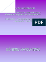 GÉNERO NARRATIVO LITERARIO