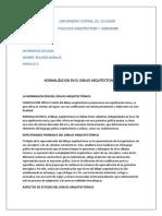 NORMALIZACION DIBUJO ARQUITECTONICO