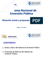 El Sistema de Inversion Publica