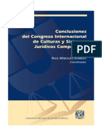 Conclusiones Del Congreso Internacional de Culturas y Sistemas Jurídicos Comparados.