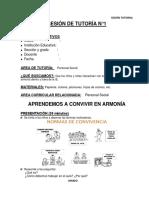 SESIÓN  DE TUTORÍA  3° - MARZO