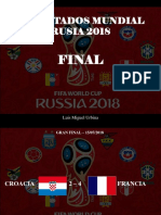 Luis Miguel Urbina - Resultados Mundial Rusia 2018, FINAL