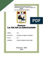 Ensayo - Las Tics en La Educacion