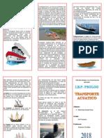 Triptico Transporte Acuatico