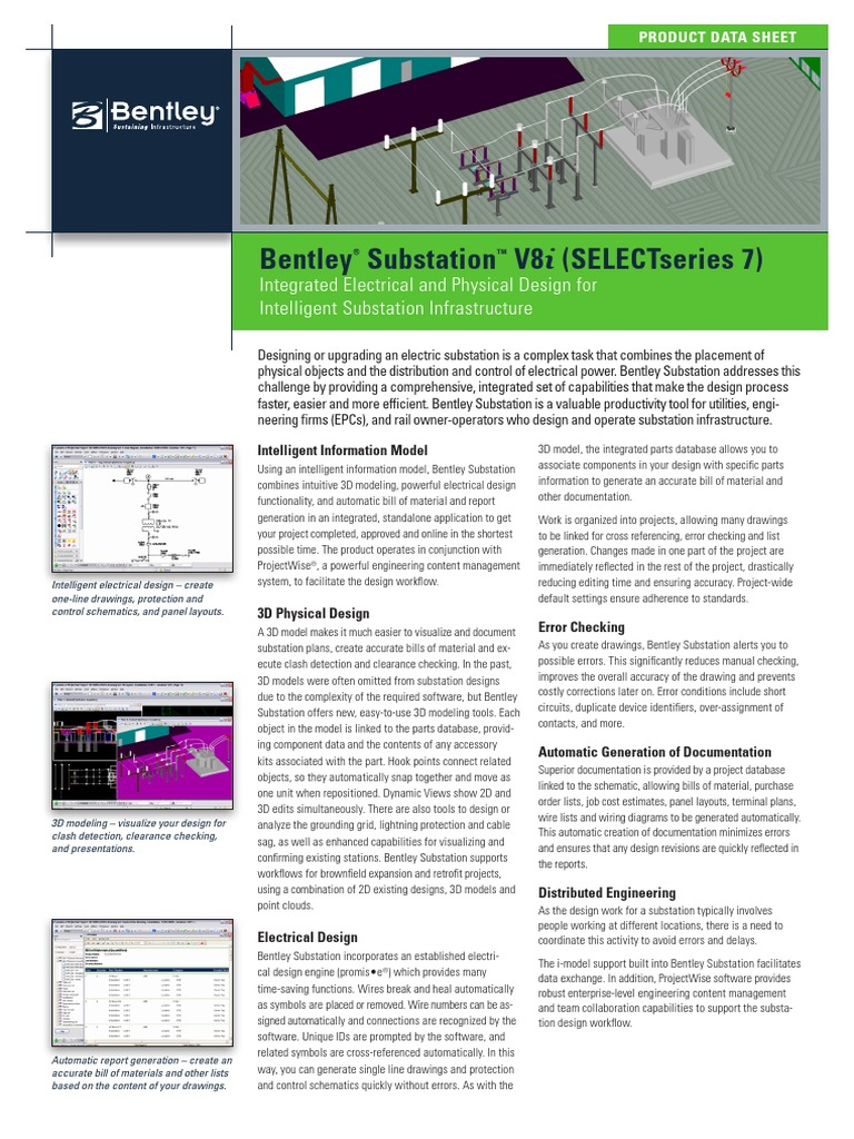 Pds Bentley Substation Ltr En Lr Electrical Databases Wiring Diagram Schematic