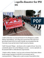 Federalism spells disaster for PH – economists | Inquirer Business