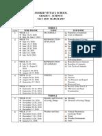 Unit Plan Science 5