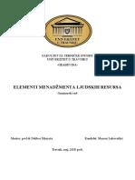 Elementi menadžmenta ljudskih resursa