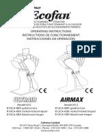 Operating Instructions Of Ecofan