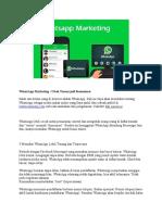 01 WhatsApp Marketing Ubah Temen Jadi Konsumen