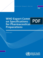Expert Committee on Specifications for Pharmaceutical - Informe 50