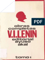 LENIN-OBRAS COMPLETAS TOMO I