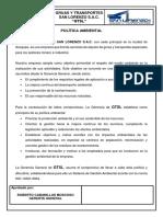 Política Ambiental 2010 Propuesta