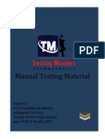 Manual Testing Material