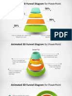 3D0017 Animated 3d Funnel Diagram for Powerpoint 16x9