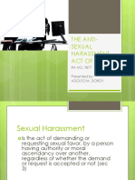 Anti sexual harassment act pdf study