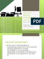 Anti sexual harassment act pdf study