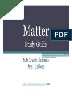 Matter Powerpoint Study Guide