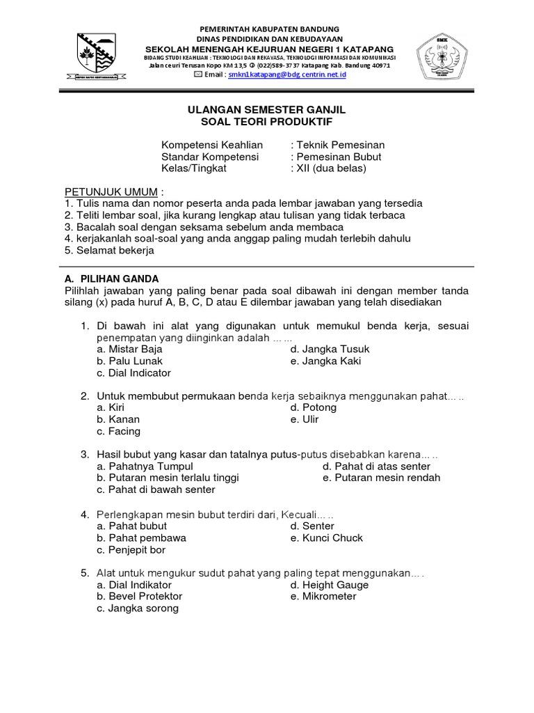 Contoh Soal Pilihan Ganda Contoh Soal Dan Materi Pelajaran 7