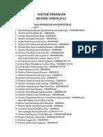 DAFTAR UNDANGAN REVIEW 2013[2]