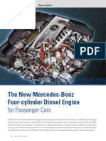 The New Mercedes Benz Four Cylinder Diesel Engine for Passenger Cars