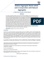 A Review of Distinct Aggregate Waste which can be Utilized in Conjunction with Natural Aggregates