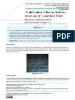 A Review on Stabilization of Indian Soils for Road Construction by Using Jute Fiber