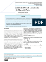 Study of the Effect of Crack Location in Bi-Material Plates
